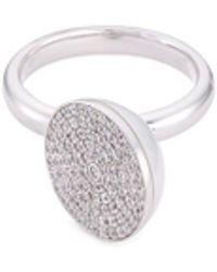 Tasaki | 'sliced' Diamond South Sea Pearl 18k White Gold Ring | Lyst