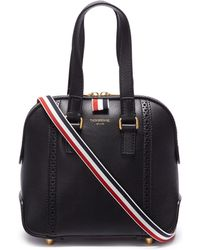 Thom Browne - 'mrs. Thom' Brogue Stripe Mini Leather Bag - Lyst