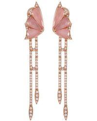 Stephen Webster - 'crystal Haze' Diamond Crystal 18k Rose Gold Drop Earrings - Lyst
