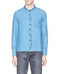 Simon Miller - 'pioche' Linen Chambray Shirt - Lyst