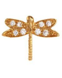 Loquet London | Diamond 18k Yellow Gold 'dragonfly' Charm – Strength | Lyst