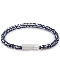 Tateossian | 'catena' Braided Silver Box Chain Bracelet | Lyst