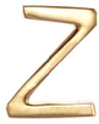 Loquet London - 18k Yellow Gold Letter Charm – Z - Lyst