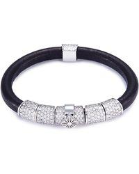 Shamballa Jewels - 'korne Pavé' Diamond 18k Gold Leather Bracelet - Lyst