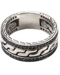 John Hardy - Sapphire Silver Chain Effect Ring - Lyst