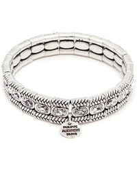Philippe Audibert - 'claud' Swarovski Crystal Braid Effect Plate Elastic Bracelet - Lyst