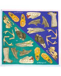 Cjw - 'shoe Goals Giant' Colourblock Graphic Print Scarf - Lyst