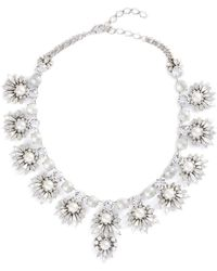 Erickson Beamon - 'jam' Swarovski Crystal Glass Pearl Bib Necklace - Lyst