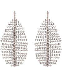CZ by Kenneth Jay Lane - Cubic Zirconia Leaf Drop Earrings - Lyst