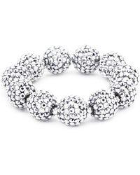 Kenneth Jay Lane - Glass Crystal Sphere Stretch Bracelet - Lyst