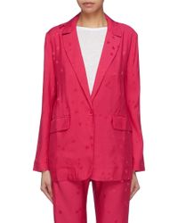 Equipment - X Tabitha Simmons 'hampton' Star Jacquard Blazer - Lyst
