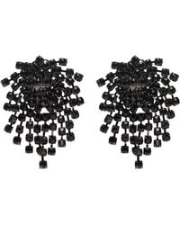 Kenneth Jay Lane - Glass Crystal Cluster Fringe Clip Earrings - Lyst