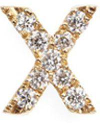 Loquet London - Diamond 18k Yellow Gold Letter Charm – X - Lyst