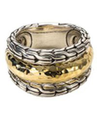 John Hardy - 18k Yellow Gold And Silver Ring - Lyst
