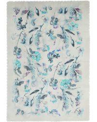 Franco Ferrari - 'evans Wash' Floral Print Wool-cashmere Scarf - Lyst