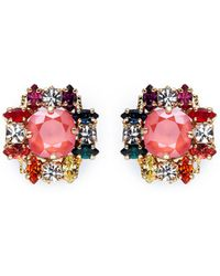 Anton Heunis - Swarovski Crystal Cluster Stud Earrings - Lyst
