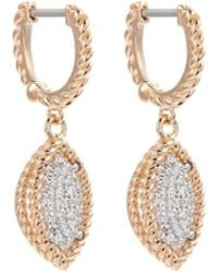 Roberto Coin - 'new Barocco' Diamond 18k Rose Gold Marquise Drop Earrings - Lyst