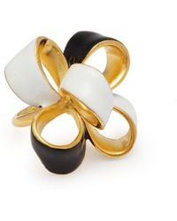 Kenneth Jay Lane - Enamel Bow Ring - Lyst