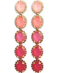 Elizabeth Cole - 'von' Glass Crystal Ombré Drop Earrings - Lyst