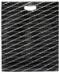Balenciaga - Logo Tape Print Medium Leather Shopping Bag - Lyst