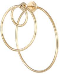 Delfina Delettrez - 'twins Hoop' 18k Yellow Gold Single Earring - Lyst