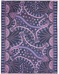 Valentino | Leopard Floral Print Cotton-silk Chiffon Scarf | Lyst