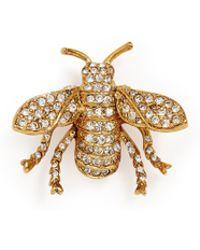 Kenneth Jay Lane - Glass Crystal Bug Brooch - Lyst