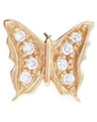 Loquet London - Diamond 18k Yellow Gold 'butterfly' Charm – Beauty - Lyst