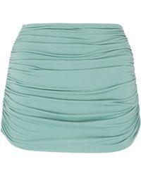 Norma Kamali - 'bill' Ruched Skirt Overlay Bikini Bottoms - Lyst