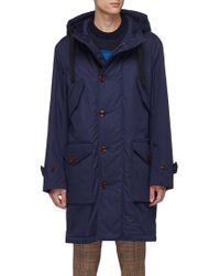 Acne Studios - Hooded Padded Twill Military Parka - Lyst
