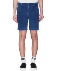 Remi Relief - Floral Stud Outseam Corduroy Shorts - Lyst