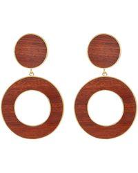 Philippe Audibert - 'naia' Wood Hoop Drop Clip Earrings - Lyst