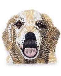 Mignonne Gavigan - Beaded Dog Brooch – Golden Retriever - Lyst