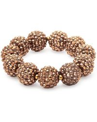 Kenneth Jay Lane - Glass Crystal Sphere Stretch Bracelet - Lyst
