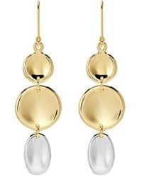 J.HARDYMENT - 'small Thumbprint' Mixed Coin Drop Earrings - Lyst