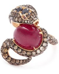 Stephen Webster - 'snake' Diamond Ruby 18k Rose Gold Ring - Lyst