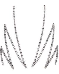 Khai Khai - 'zigzag' Diamond 18k White Gold Earrings - Lyst