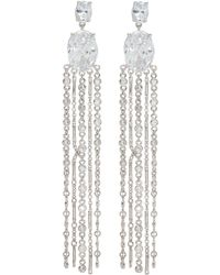 CZ by Kenneth Jay Lane - Cubic Zirconia Fringe Drop Earrings - Lyst
