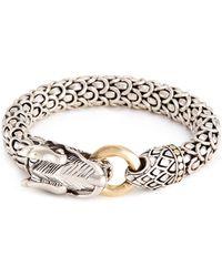 John Hardy - 18k Gold Silver Large Scaly Dragon Bracelet - Lyst