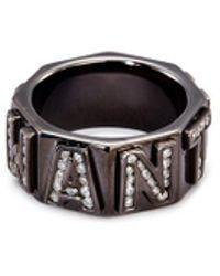 Lynn Ban - 'i Want You' Diamond Rhodium Silver Ring - Lyst
