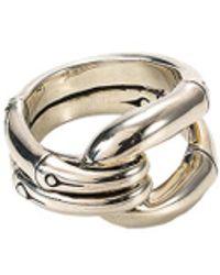 John Hardy - Silver Bamboo Ring - Lyst