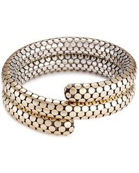 John Hardy - 18k Yellow Gold Silver Dotted Coil Bracelet - Lyst