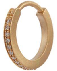 Sophie Bille Brahe - 'daisy Diamant' Diamond 18k Yellow Gold Single Hoop Earring - Lyst