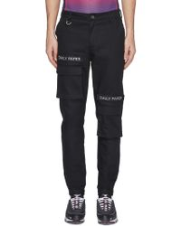 Daily Paper - Logo Embroidered Cargo Trousers - Lyst