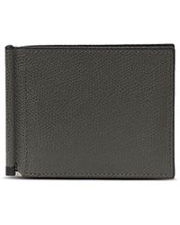 Valextra - Simple Grip Spring Leather Wallet – Smokey Grey - Lyst