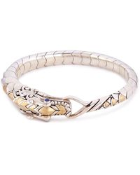 John Hardy - Sapphire Spinel 18k Yellow Gold Silver Naga Bracelet - Lyst