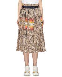 Sacai - X Pendleton Buckled Graphic Print Check Plaid Pleated Skirt - Lyst