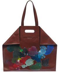 Alexander McQueen - 'de Manta' Paint Palette Leather Shopping Tote Bag - Lyst