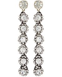 Lulu Frost - 'royale' Glass Crystal Linear Drop Earrings - Lyst