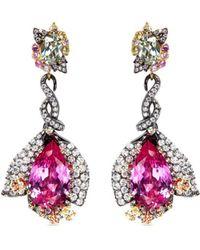 Anabela Chan - Detachable Diamond Sapphire Cocktail Earrings - Lyst